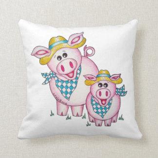 Vaca de Oso y almohada lindas del reversible del