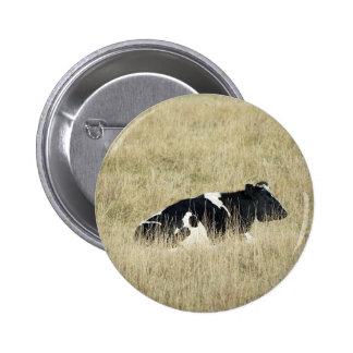 Vaca de reclinación - botón pin redondo de 2 pulgadas