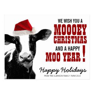Vaca de Santa del navidad del país Postales