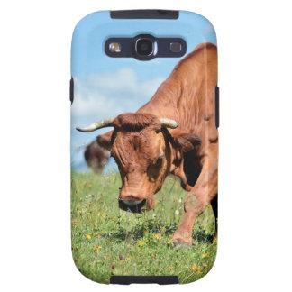 Vaca de Tarine en las montañas francesas Samsung Galaxy S3 Carcasas