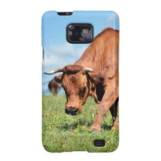 Vaca de Tarine en las montañas francesas Samsung Galaxy SII Fundas