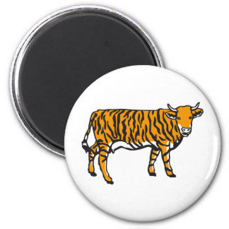 Vaca de tigre imán redondo 5 cm