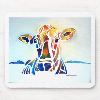 Vaca de Whimzical Alfombrilla De Ratón