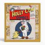 Vaca del acebo del vintage cómica
