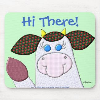 """¡Vaca del acebo """"hola allí! """" Tapetes De Raton"""