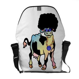 Vaca del Afro de Tiedye Bolsa De Mensajería