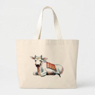 Vaca del amor bolsa lienzo