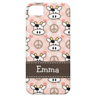 Vaca del amor de la paz iPhone 5 Case-Mate cobertura