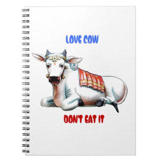 Vaca del amor libreta