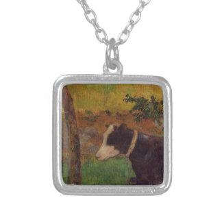 Vaca del arrodillamiento de Paul Gauguin Colgante Cuadrado