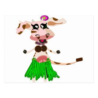 Vaca del baile de Hula Tarjetas Postales