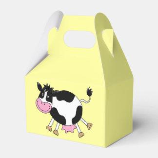 vaca del baile de la granja divertida caja para regalos de fiestas