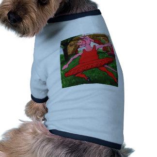 Vaca del ballet camiseta con mangas para perro