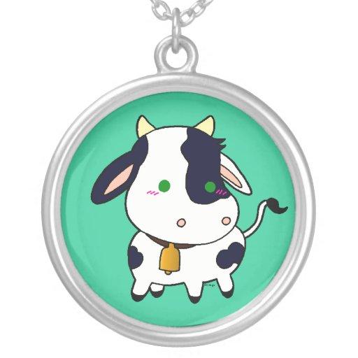 Vaca del bebé pendientes