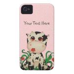 Vaca del bebé con el caso rosado del iPhone 4 de l iPhone 4 Funda