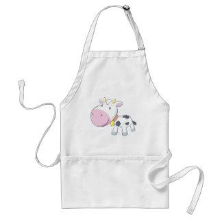 Vaca del bebé del dibujo animado delantal