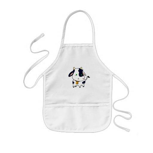 Vaca del bebé delantales