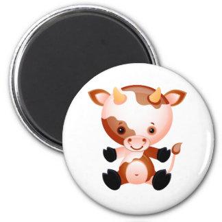 Vaca del bebé iman de nevera
