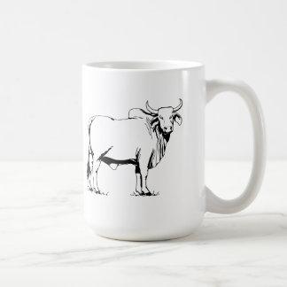 Vaca del Brahman Taza De Café