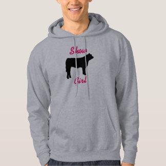 vaca del buey, demostración, chica sudadera