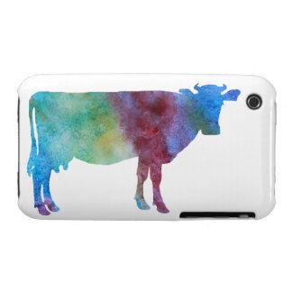 Vaca del Color-wsahed Carcasa Para iPhone 3
