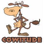 vaca del cowitude con el dibujo animado divertido  esculturas fotográficas