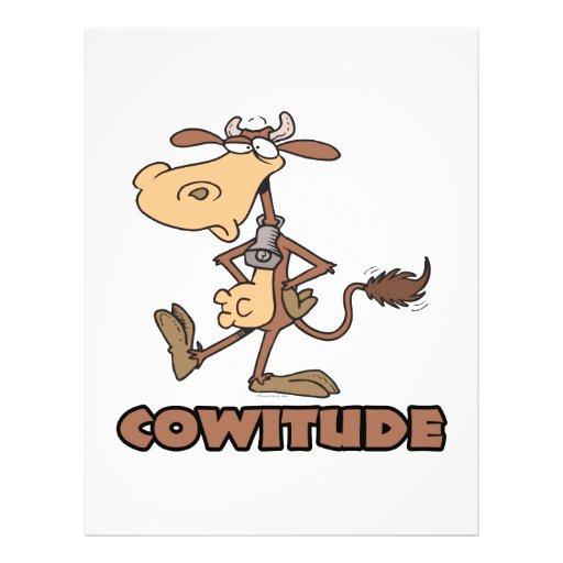 vaca del cowitude con el dibujo animado divertido  tarjetón