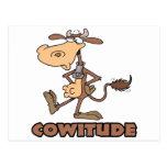 vaca del cowitude con el dibujo animado divertido  tarjetas postales