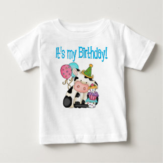Vaca del cumpleaños tee shirt