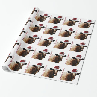 Vaca del día de fiesta papel de regalo
