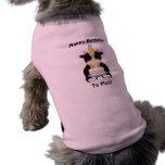 vaca del día del cumpleaños camisetas de perrito