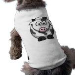 Vaca del dibujo animado camiseta de mascota
