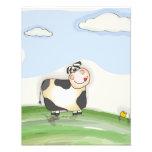 Vaca del dibujo animado de la acuarela fotografia