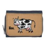Vaca del dibujo animado del MOO en la cartera del