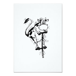 Vaca del dibujo animado en el palillo de Pogo Anuncios Personalizados