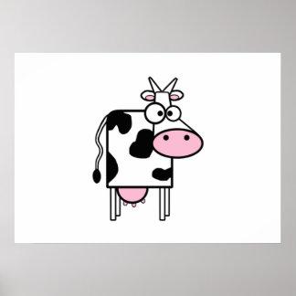 Vaca del dibujo animado impresiones