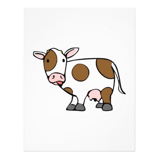 Vaca del dibujo animado plantillas de membrete