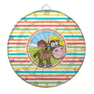 Vaca del dibujo animado; Rayas brillantes del arco