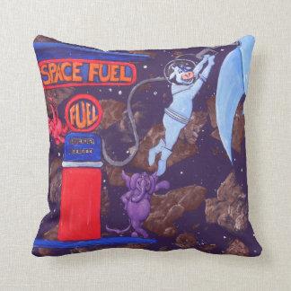 Vaca del espacio en la correa asteroide almohadas
