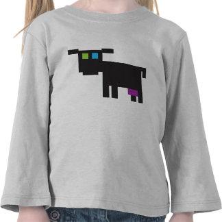 vaca del estilo del pixel camiseta
