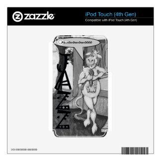 Vaca del jazz del canto calcomanías para iPod touch 4G