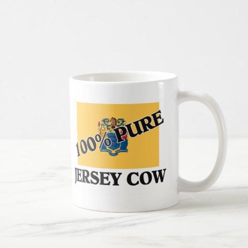Vaca del jersey del 100 por ciento taza de café