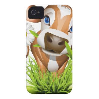 Vaca del jersey en hierba iPhone 4 carcasas