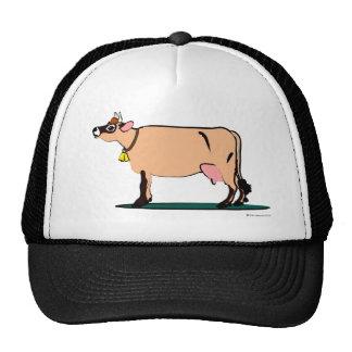 Vaca del jersey (oscura) gorros bordados
