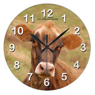 Vaca del jersey reloj redondo grande