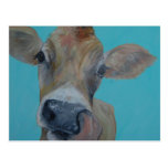 Vaca del jersey tarjeta postal