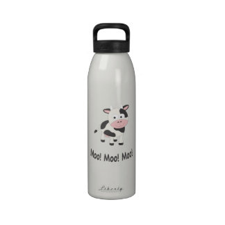 Vaca del MOO Botella De Beber