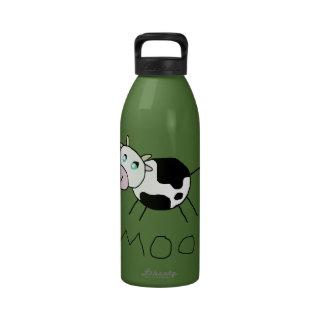 Vaca del MOO Botellas De Agua Reutilizables