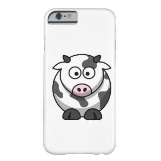 vaca del MOO del dibujo animado Funda De iPhone 6 Barely There