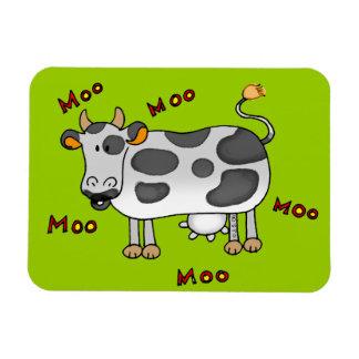 vaca del MOO Imán Foto Rectangular